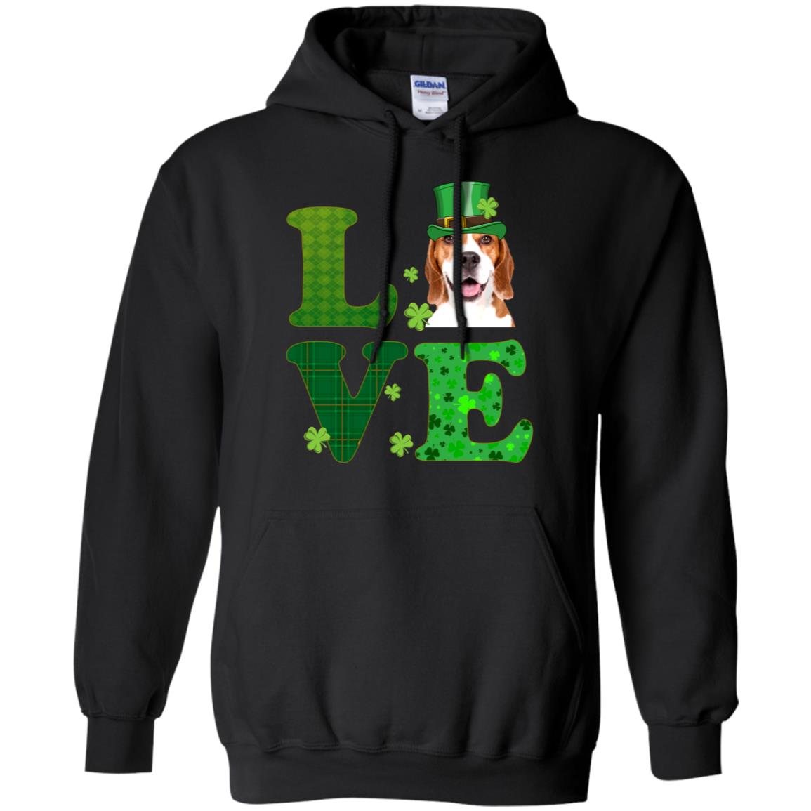 e626a3c8 Awesome love beagle st. patrick's day t shirt funny dog lover gift ...