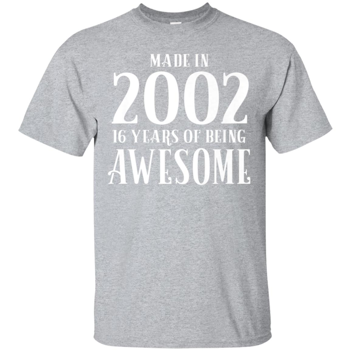 16th Birthday Tshirt Gift 2002 Boys Shirt Son 16 Years 99promocode