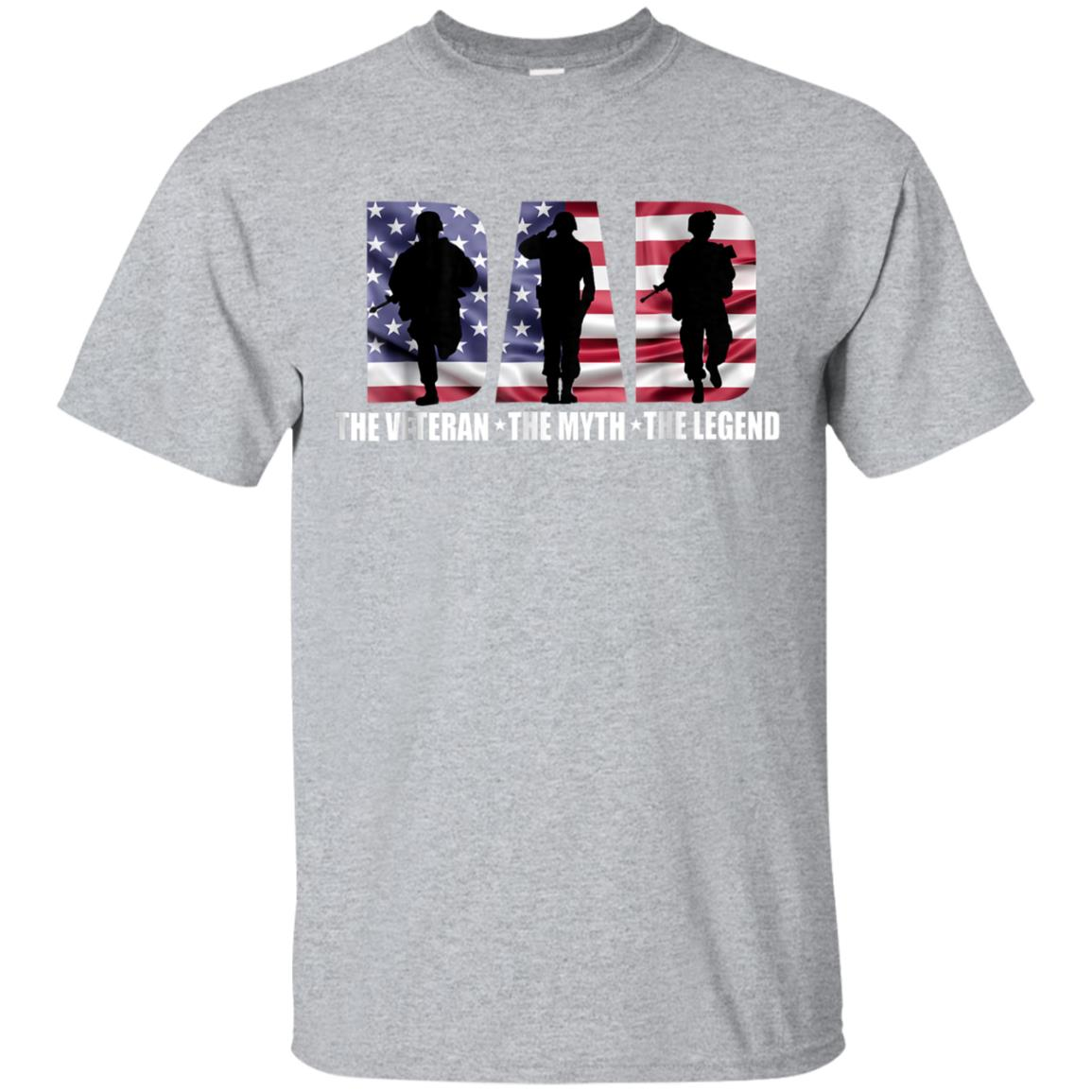 Dad The Veteran The Myth The Legend Father's Day - Gift Tee 99promocode