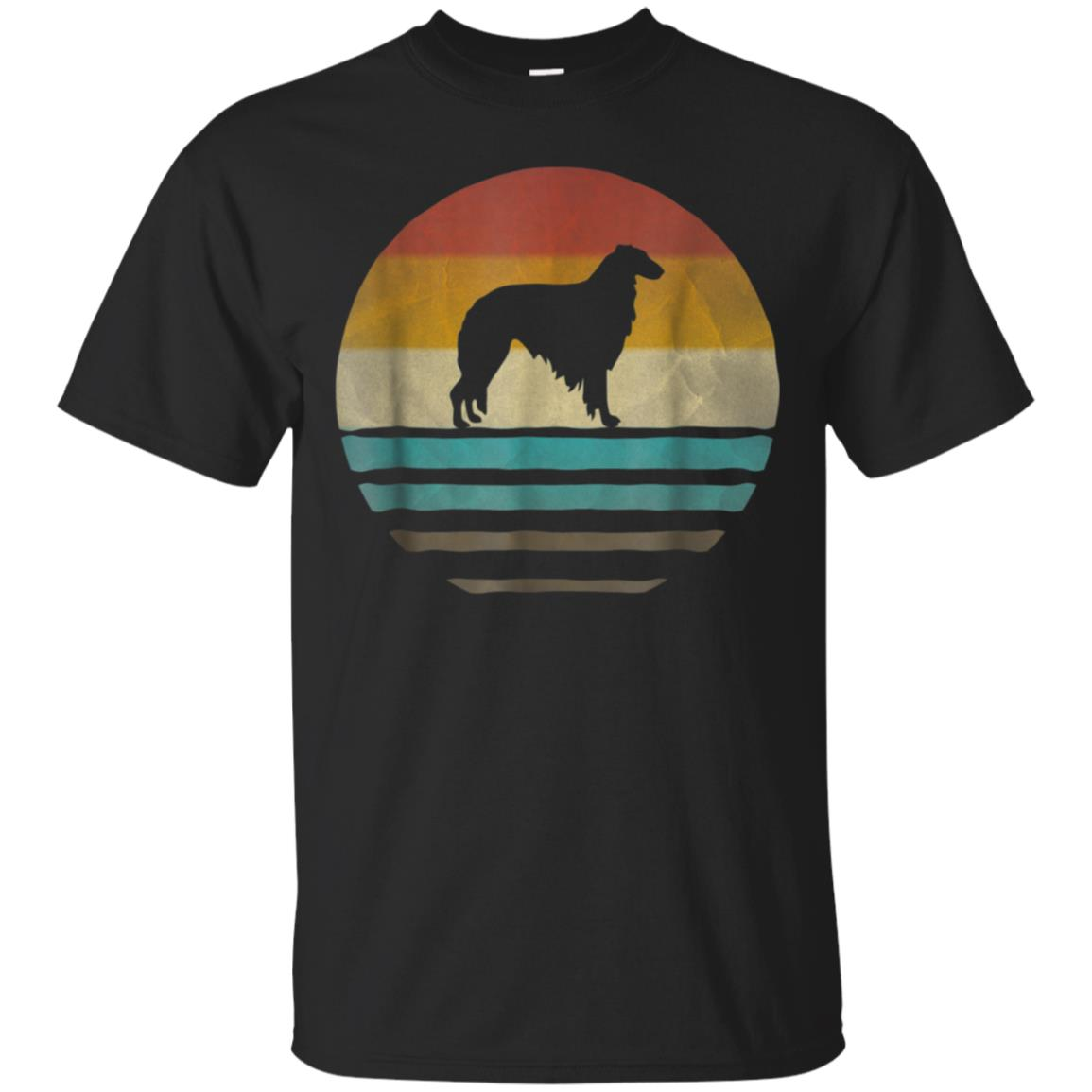 Borzoi Dog Shirt Retro Vintage 70s Silhouette Distressed 99promocode