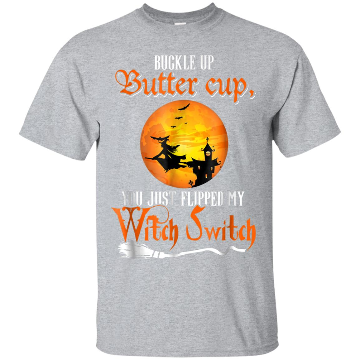 Buckle Up Buttercup T-shirt Mom Gift Halloween Witches Shirt 99promocode