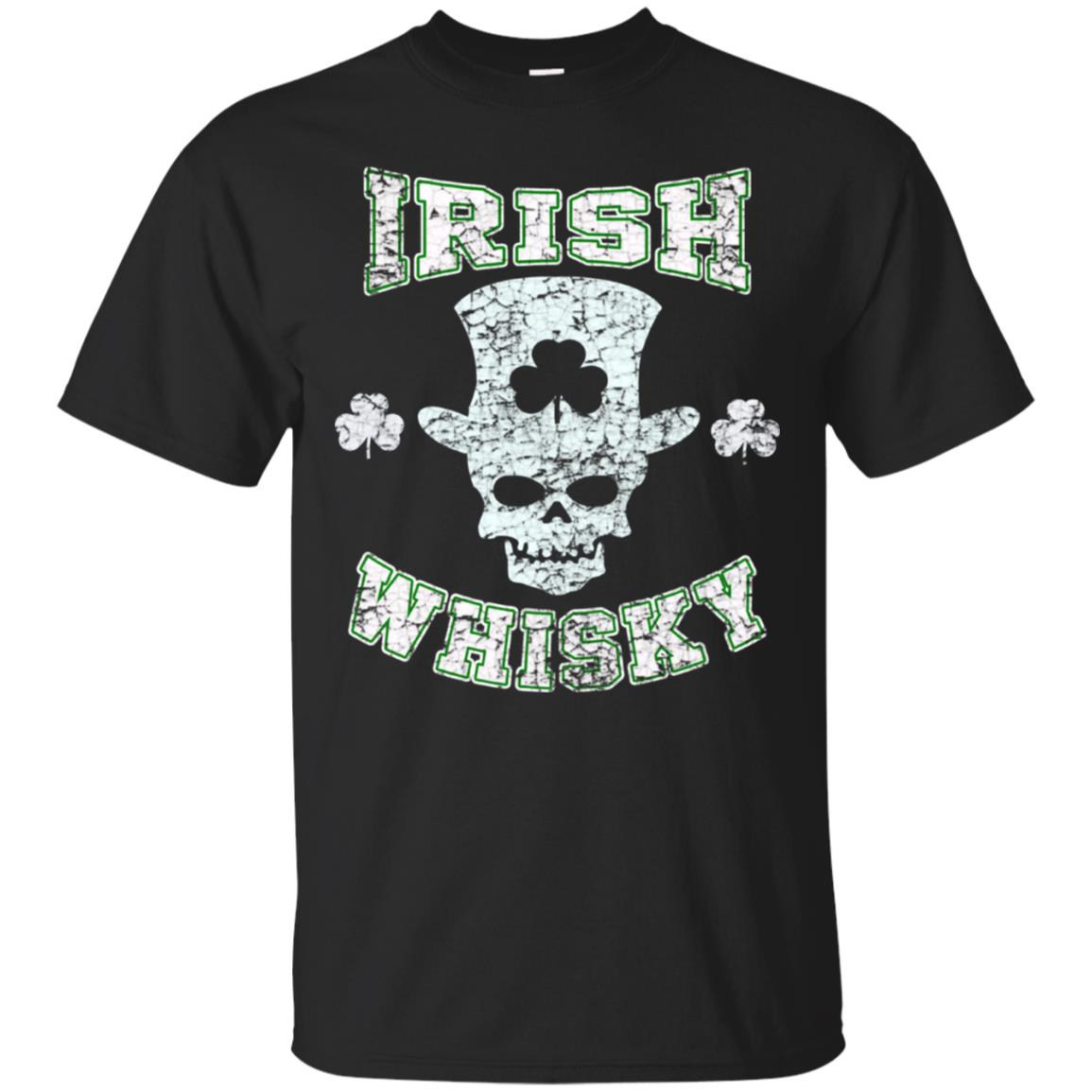 St Patrick's Day Shirt Irish Whisky Skull Distressed 99promocode