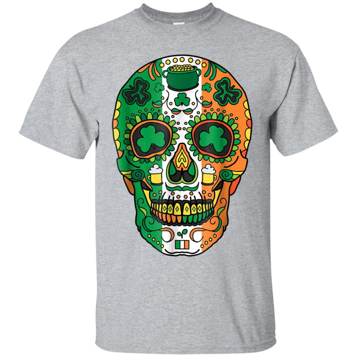 Day Of The Dead Irish Sugar Skull Halloween Costume Shirt 99promocode