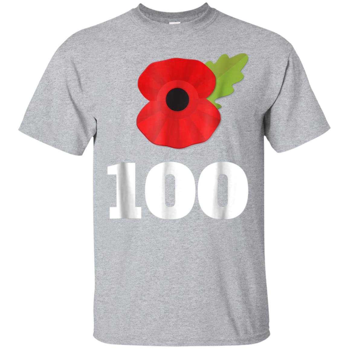 Remembrance Day Poppy 100th Armistice Veterans T-Shirt 99promocode