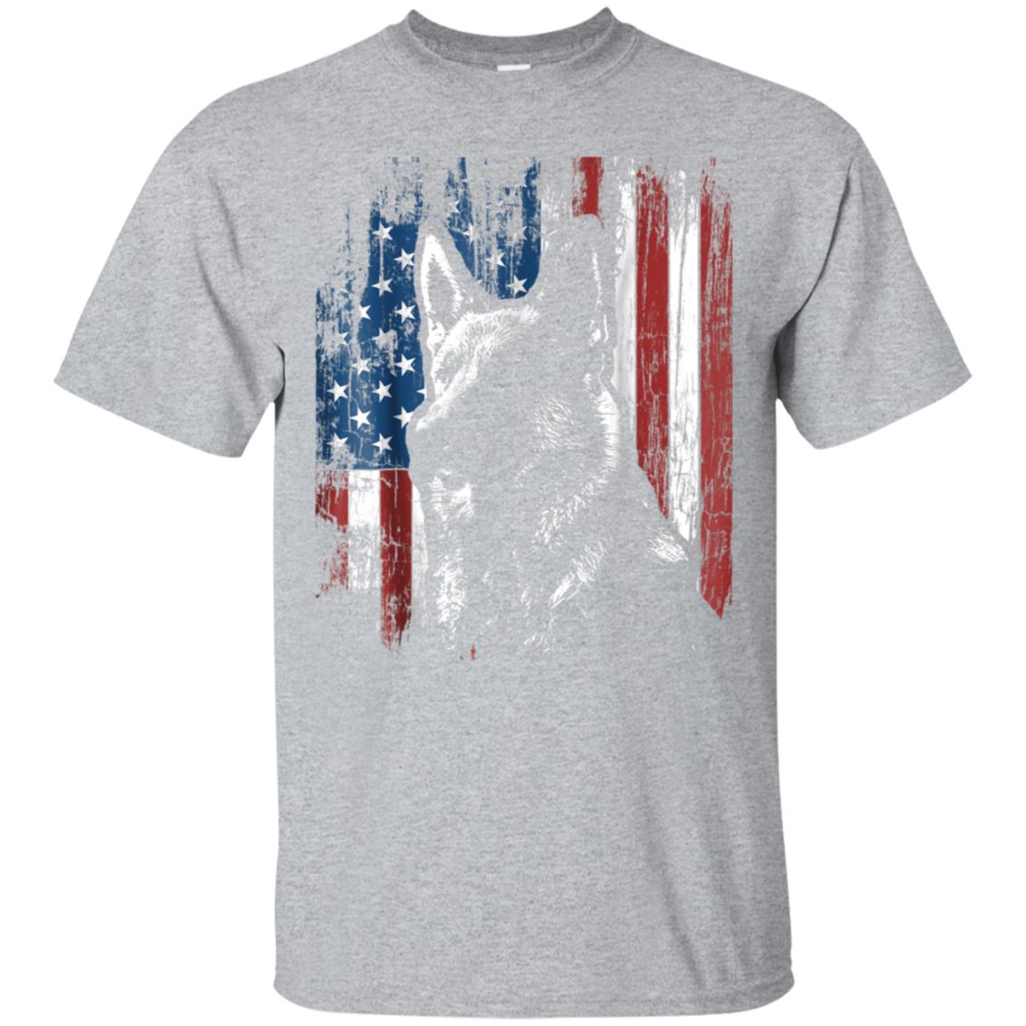 Patriotic German Shepherd American Flag Shirt Dog Gifts 99promocode