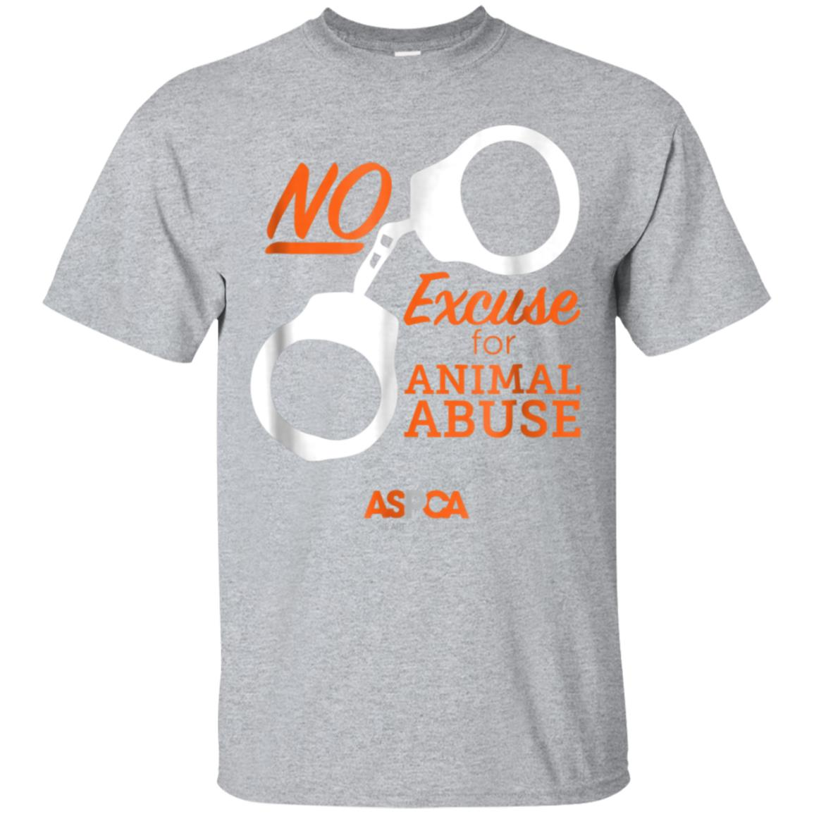 ASPCA No Excuse for Animal Abuse T-Shirt Dark 99promocode