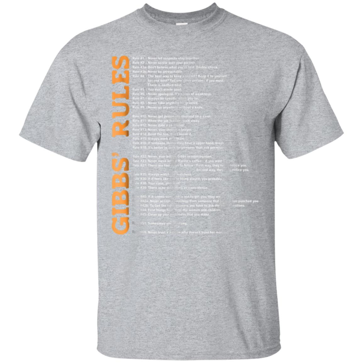 Awesome Gibbs Rules T Shirt 99promocode