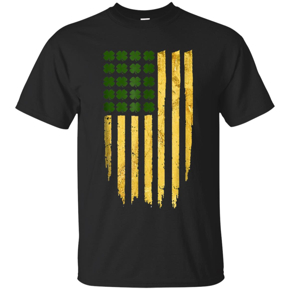 St patricks day irish american flag shirt - gold tshirt 99promocode