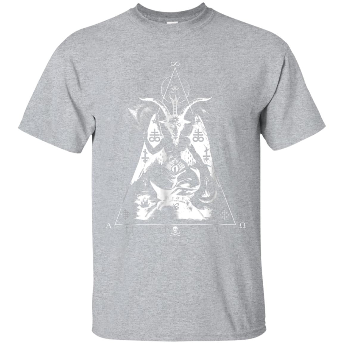 BAPHOMET - As Above So Below Occult Sacred Geometry T-Shirt 99promocode