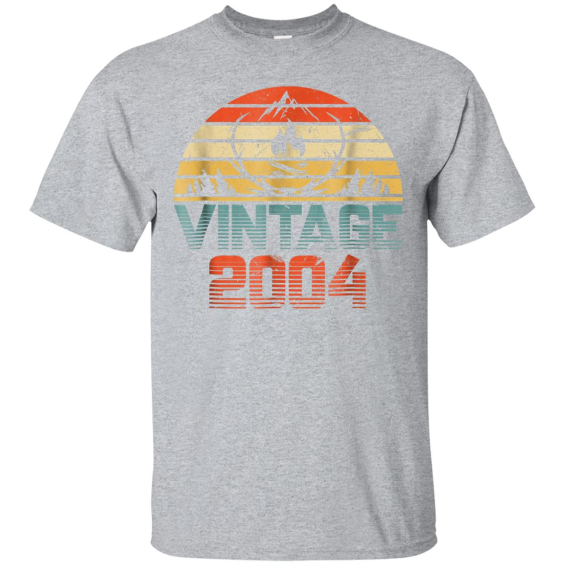 Vintage camping 2004 Shirt 14th Birthday Gifts 14 Years Old 99promocode