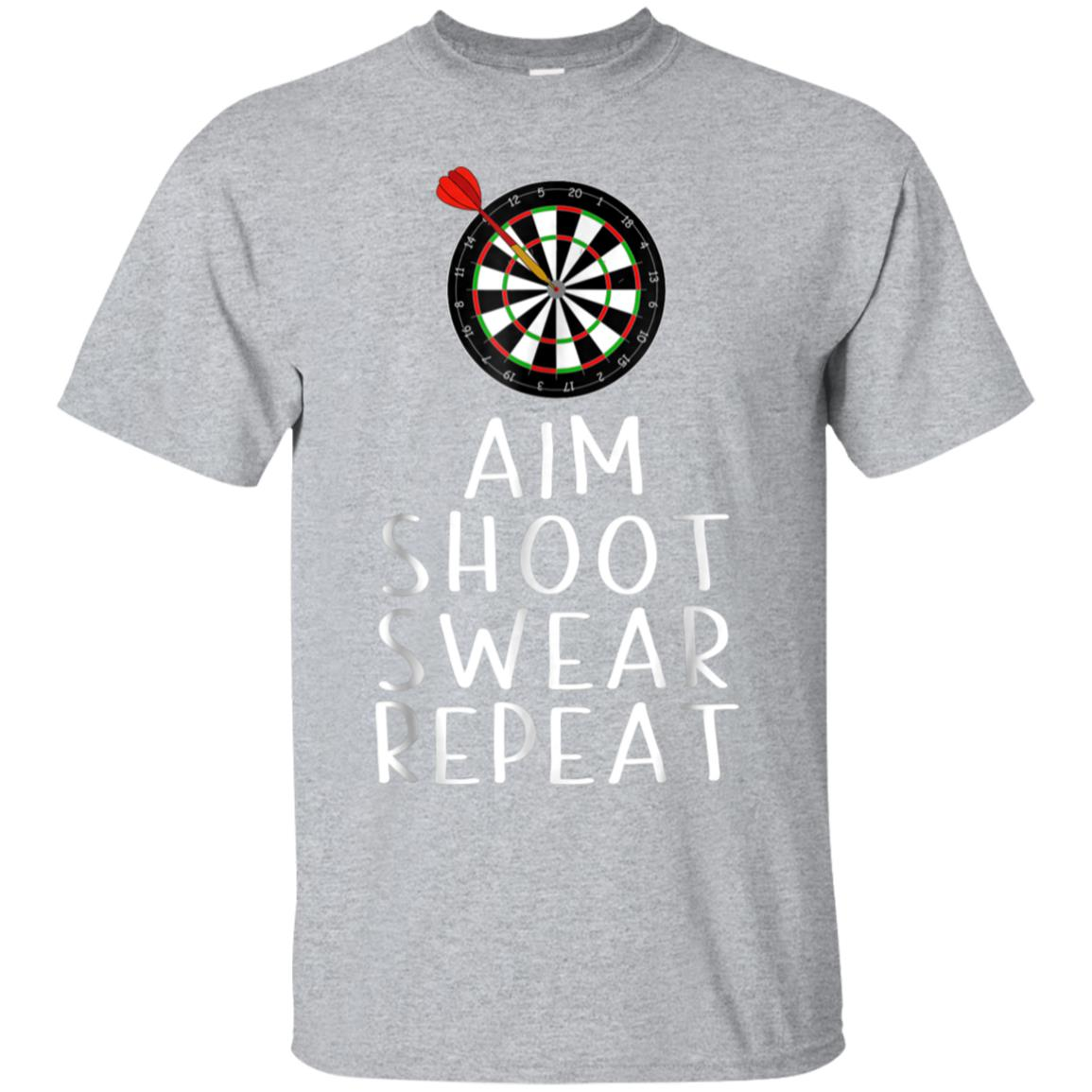 Darts T-shirt Aim Shoot Swear Repeat Darts Player Gift Shirt 99promocode