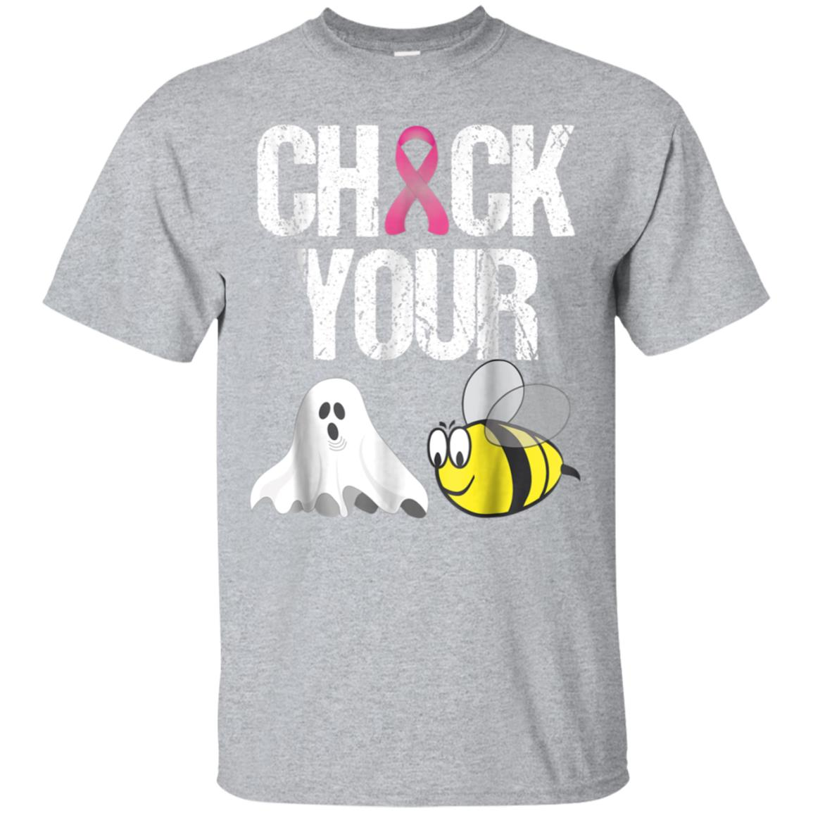 Check Your Boo Bees Shirt Funny Breast Cancer Halloween Gift 99promocode