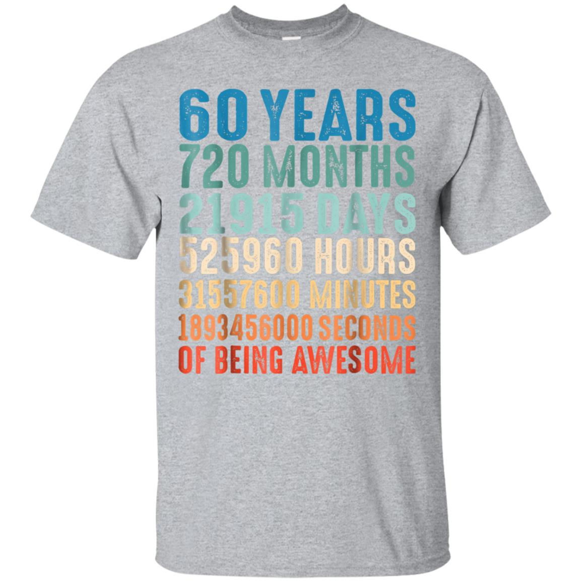 60 Years Old 60th Birthday Vintage Retro T Shirt 720 Months 99promocode