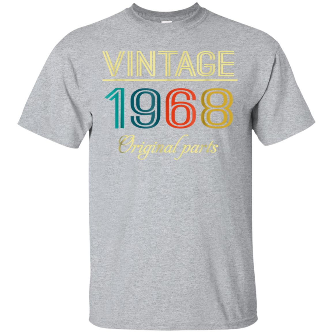 Vintage 1968 Funny Old School 50th Retro Gift T-shirt 99promocode