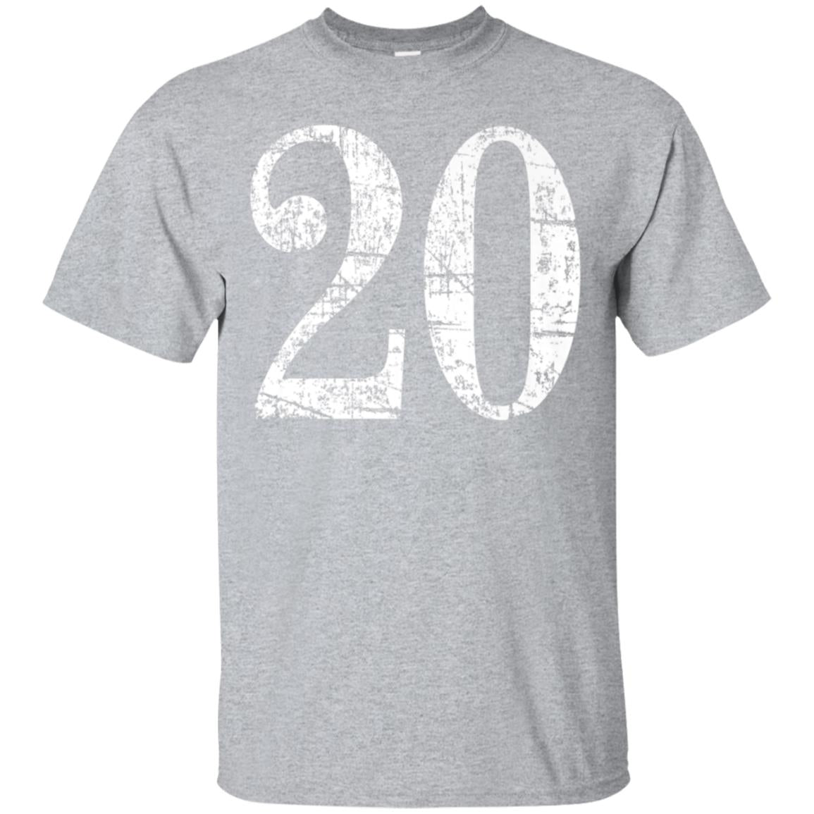 20 Years (Ancient White) 20th Birthday Gift T-Shirt 99promocode