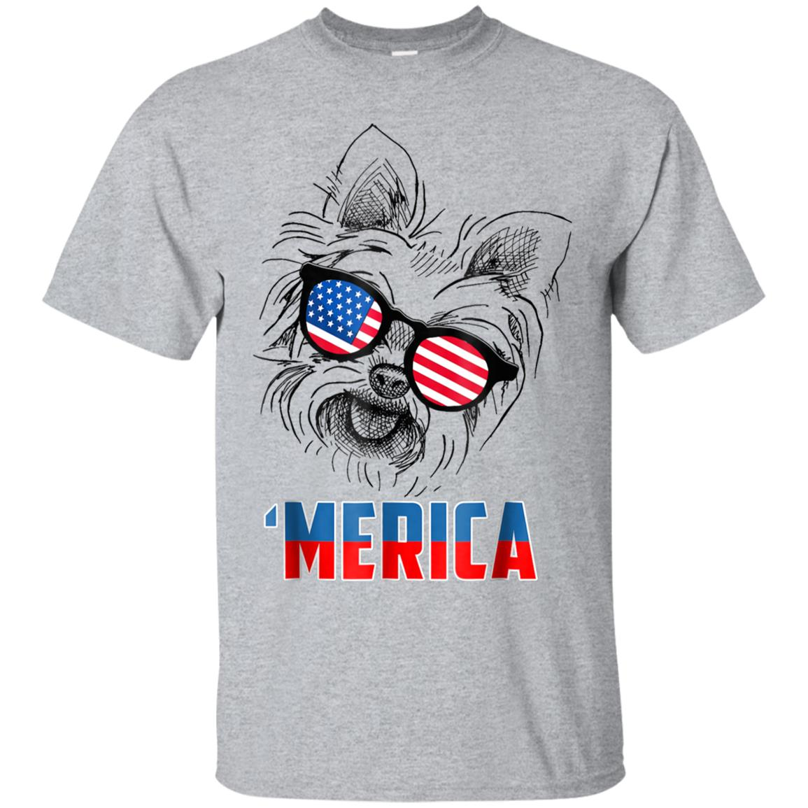4th of July Patriot Yorkshire Terrier Merica Shirt Dog Lover 99promocode