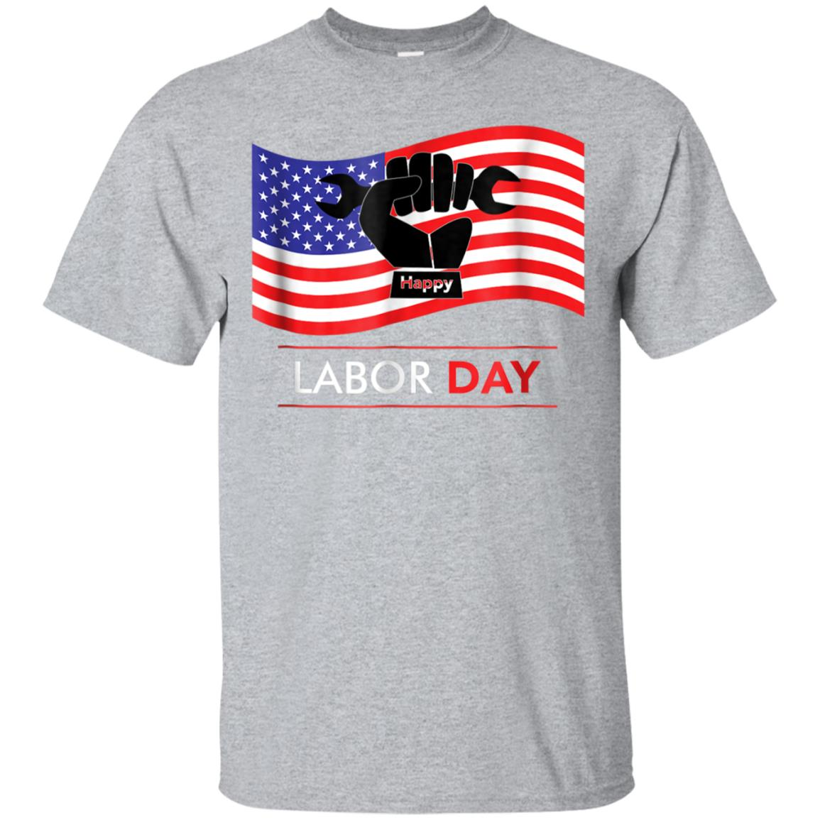 Happy Labor Day USA Flag Hand Tool T-shirt 99promocode
