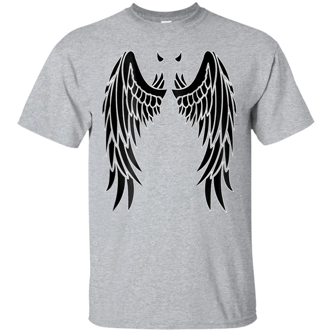 Devil Black Wings & Horn  Back of Shirt Design 99promocode