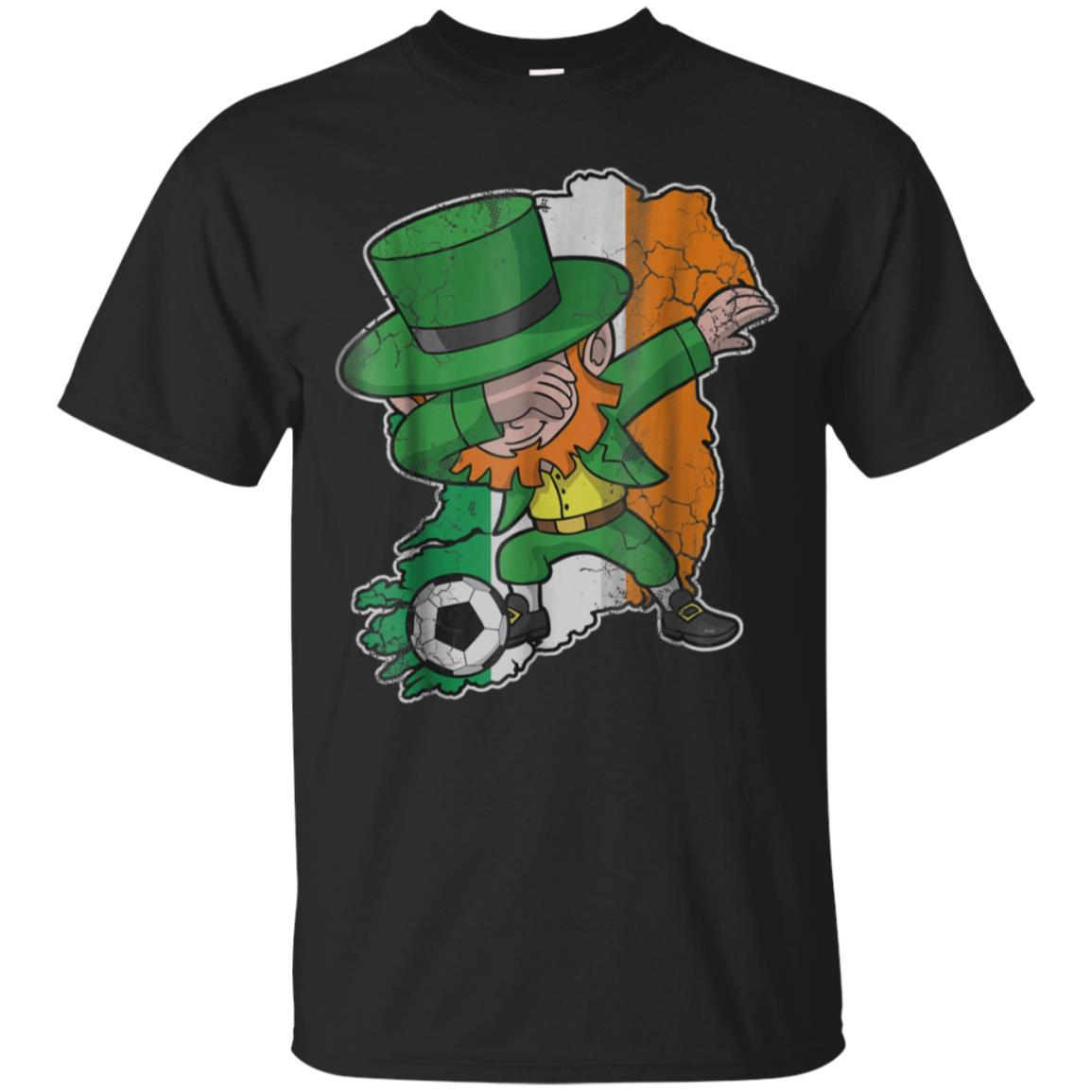 Dabbing Soccer T-Shirt Leprechaun Irish Football Shirt 99promocode
