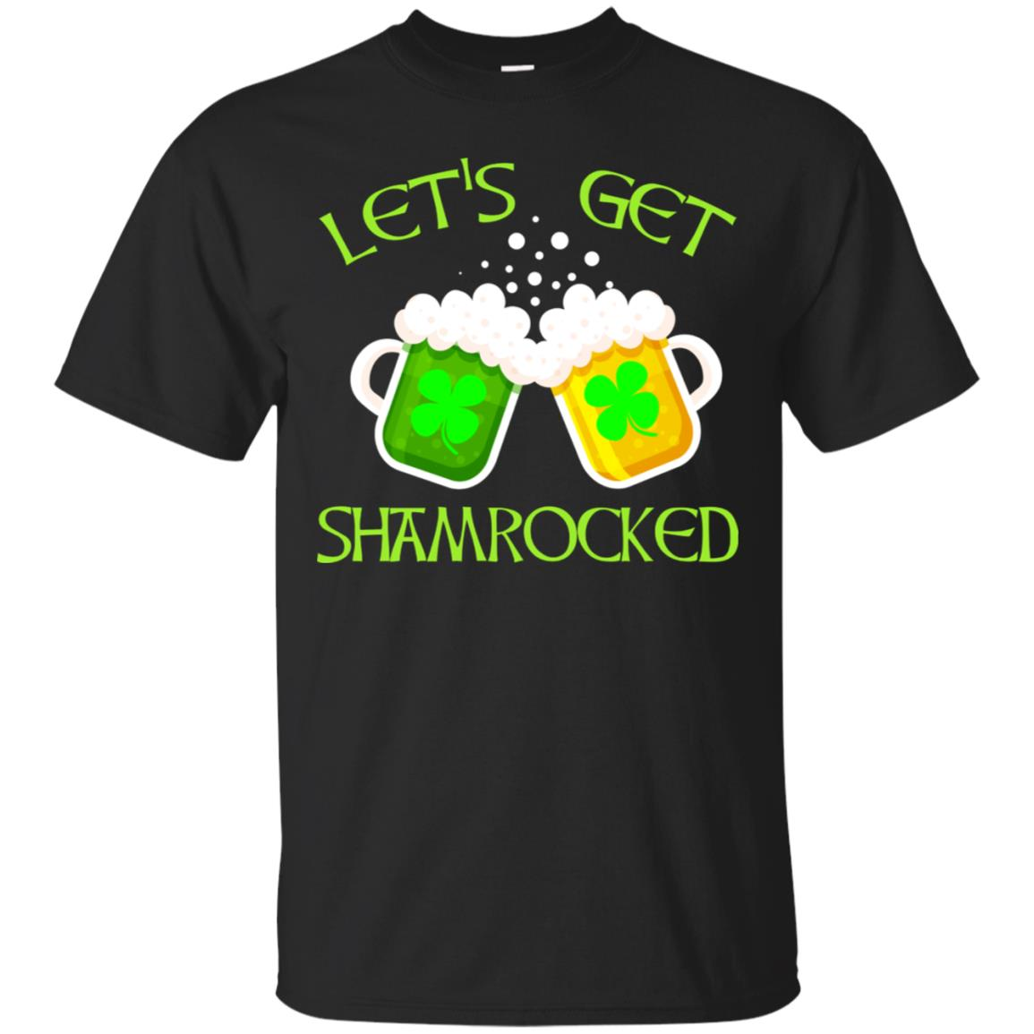 Let's Get Shamrocked St Patrick Day Shirt Leprechaun T Shirt 99promocode