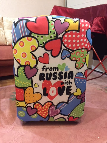 Luggage Cover - I love Russian