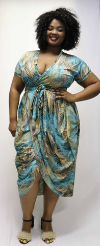 Candy Dress - Teal & Stone