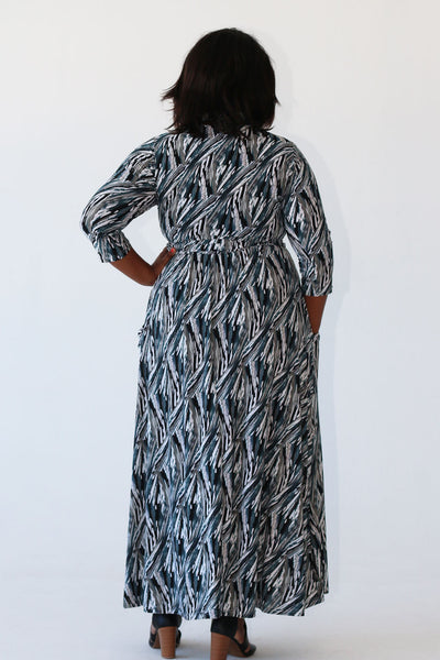 Maxi Dress - Black/Grey