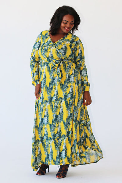 Slinky Wrap - Yellow Print