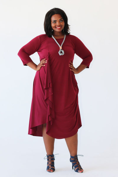 Greece Dress - Burgundy