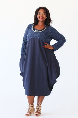 Thuly Dress - Navy