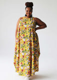Elegant Dress - yellow floral