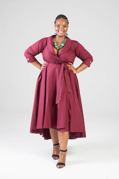 Betty Dress - Burgandy
