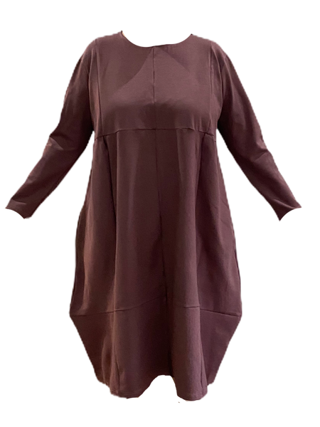 Winter dress - dusky pink