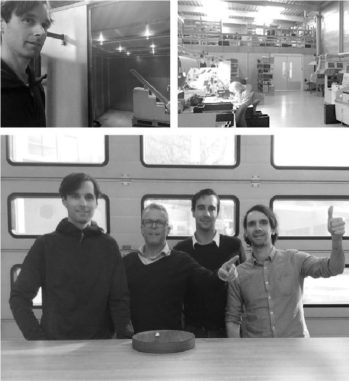 FLYTE team in a visit to Amsterdam to showcase worlds first levitating watch STORY