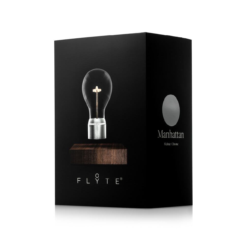 FLYTE levitating light bulb - Manhattan packaging box