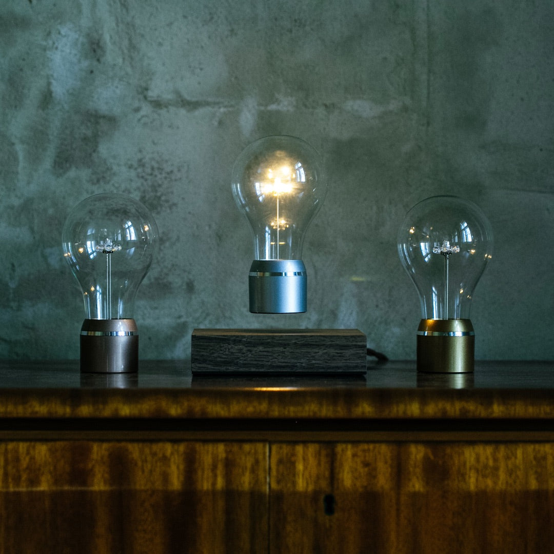 Levitating light bulb Manhattan with other Edison bulbs on the side