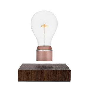 FLYTE Buckminster, named after the visionary American inventor Buckminster Fuller (and also the name of the designer's cat!), features an Edison style borosilicate glass bulb, a 7 LED star-shaped filament, a Copper cap and an aluminum ring. The base is crafted from a sustainably-sourced Walnut wood.