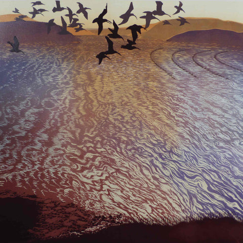 Art Greeting Card, Returning Tide by Julia Manning