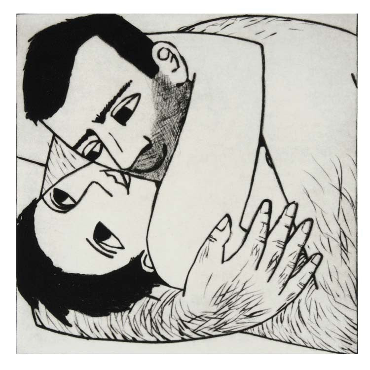 Art Greeting Card, Man and woman embracing each other