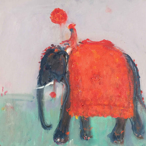 Blank art notecard pack by Ann Shrager, Diwali Elephant