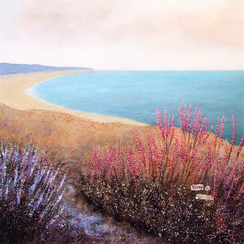 Art greeting card by Deborah Burrow, acrylic, coastal landscape