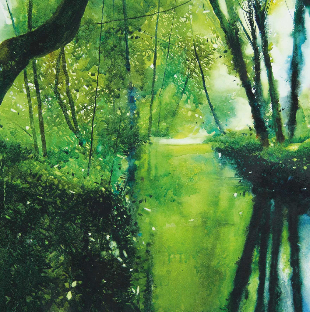 Fine Art Greeting Card, Trees along river