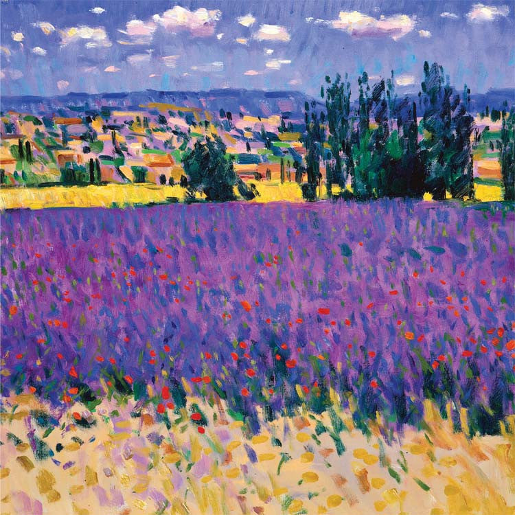Fine Art Greeting Card, Purple field