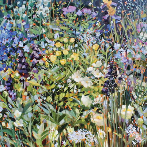 Poetry Lover's Garden by Anne-Marie Butlin, Fine Art Greeting Card, Oil, Poetry Lover's Garden from Chelsea Flower Show