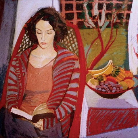 Fine Art Greeting Card, Woman Reading