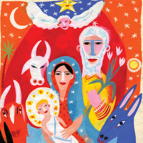 Nativity Art by Christopher Corr, Art Greeting Card, Christmas Pack, Nativity scene