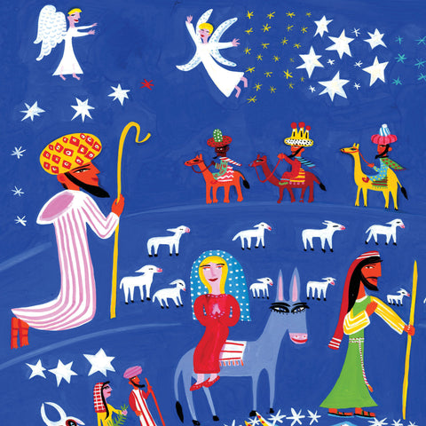 Nativity III by Christopher Corr, Art Greeting Card, Christmas Pack, Nativity scene