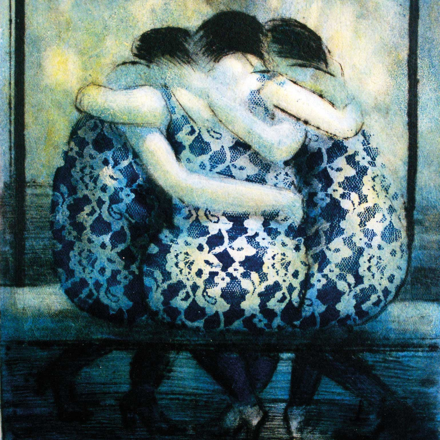 Art Greeting Card, Three women with arms around each other