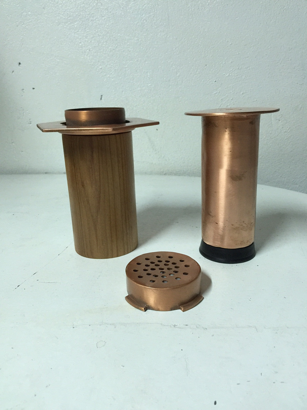 Artisan Copper Press (With Leather or Timber Sleeve)