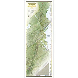 Appalachian Trail Wall Map - Boxed